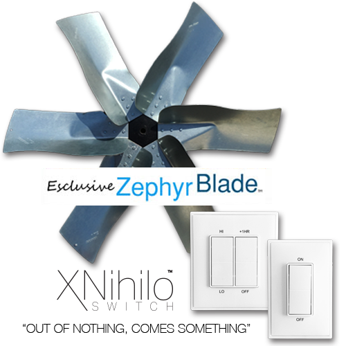 Whole House Fan San Diego Zephyr Blade